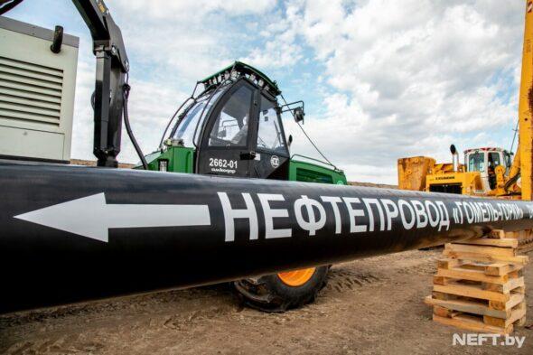 Budowa ropociągu Homel-Gorki fot Neft.by