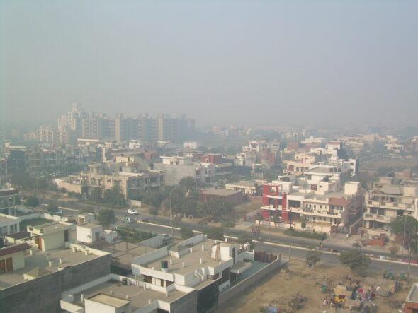 Smog w New Delhi. Źródło Wikicommons