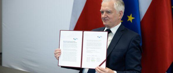 Jarosław Gowin, wicepremier, minister rozwoju, pracy i technologii. Fot.: ministerstwo rozwoju, pracy i technologii.