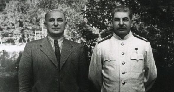 Ławrentij Beria i Józef Stalin