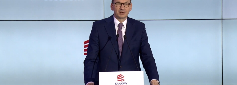 Mateusz Morawiecki prezentuje KPO. Fot. Wojciech Jakóbik