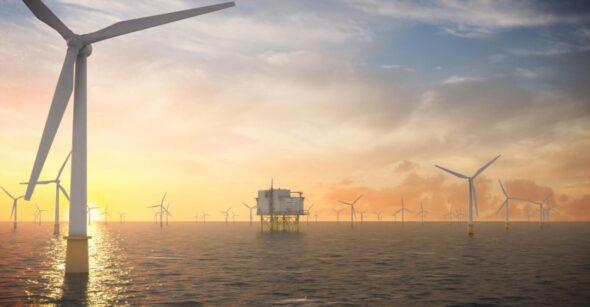 Morska farma wiatrowa. Fot. Hitachi ABB Power Grids