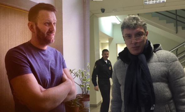 23 lutego 2015 roku. Ostatnie spotkanie Nawalnego i Niemcowa w areszcie śledczym  w Mniewnikach fot. Ilja Jaszyn.