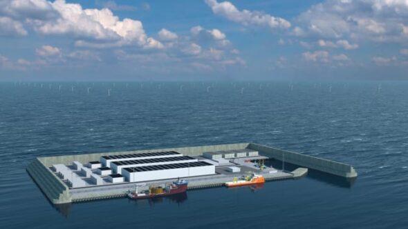 Wizualizacja hubu energetycznego na Morzu Północnym. Fot. Duńska Agencja Energii