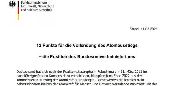 Rapport nucléaire de l'Allemagne