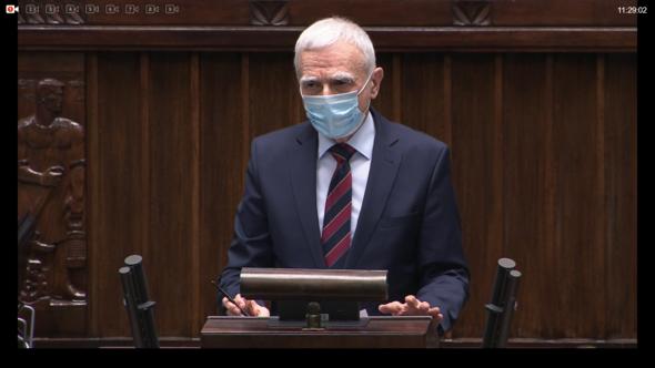 Piotr Naimski podczas posiedzenia Sejmu RP. Fot. Sejm RP/Bartłomiej Sawicki/BiznesAlert.pl