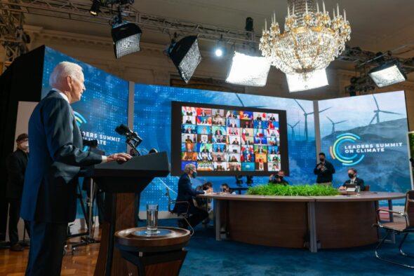 Joe Biden podczas Leaders Climate Summit. Źródło: Biały Dom