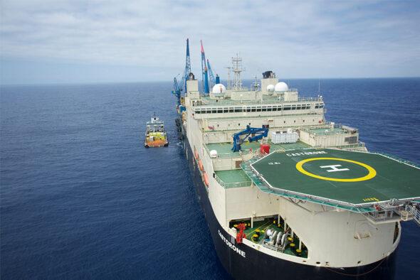 Jeden z budowniczych Baltic Pipe. Statek Castorone fot. Saipem