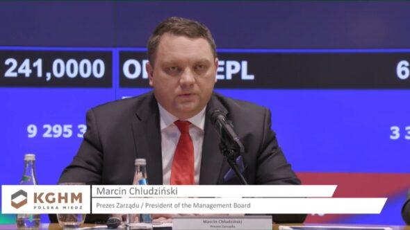 Michał Chludziński prezes KGHM. Fot. Michał Perzyński