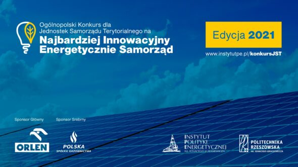 Konkurs na najbardziej innowacyjny energetycznie samorząd. Grafika organizatora