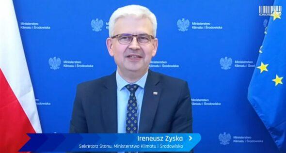 Wiceminister klimatu i środowiska Ireneusz Zyska na Kongresie 590. Fot. BiznesAlert.pl