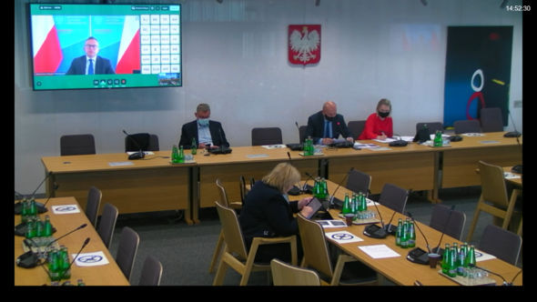 Podkomisja stała do spraw Sprawiedliwej Transformacji. Zrzut ekranu: Bartłomiej Sawicki/BiznesAlert.pl