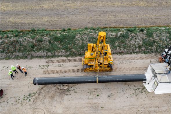 Energinet. Budowa Gazociągu Baltic Pipe w Danii. Fot.: PALLE PETER SKOV