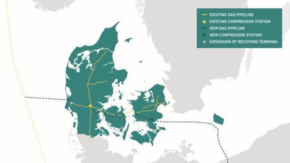 Trasa Korytarza Norweskiego w Danii. Grafika; Energinet.dk