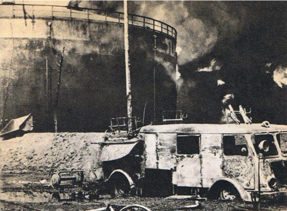 Pożar rafinerii Czechowice-Dziedzice fot.wikimedia
