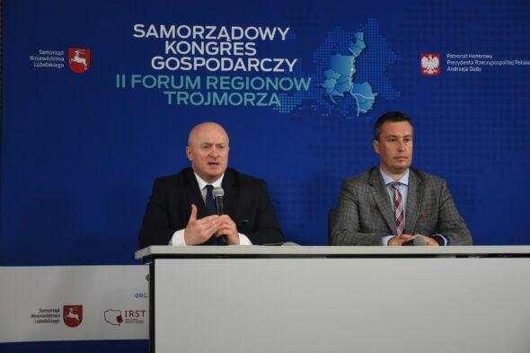 Samorządowy Kongres Gospodarczy i II Forum Regionów Trójmorza. Grafika organizatora.