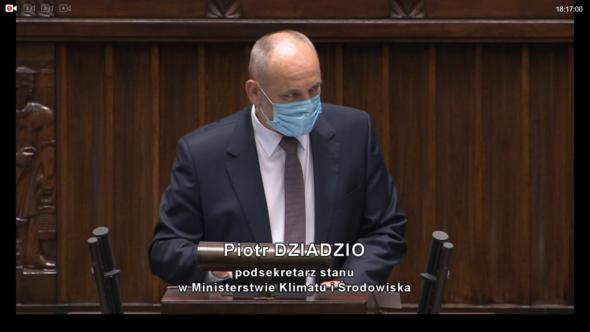 Piotr Dziadzio wiceminister środowiska, główny geolog kraju wyjaśniał tło rozmów