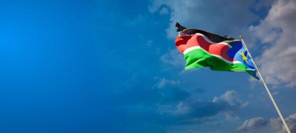 Flaga Sudanu Południowego. Źródło: Freepik