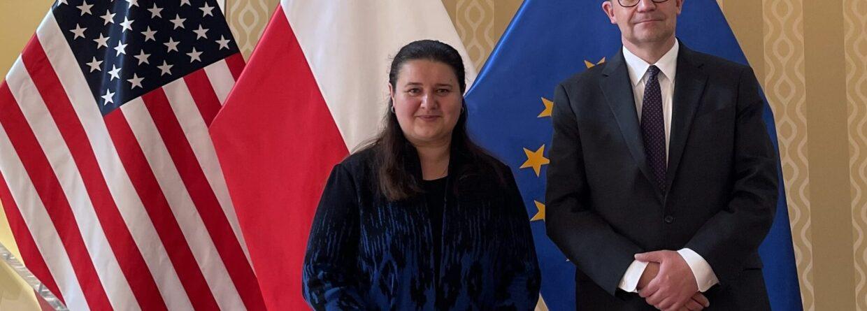 Oksana Markarowa i Piotr Wilczek, amasadorowie Ukrainy oraz Polski w USA. Fot. Ambasada RP w USA