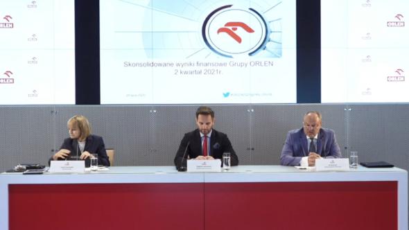 Konferencja prasowa PKN Orlen. Fot. BiznesAlert.pl.