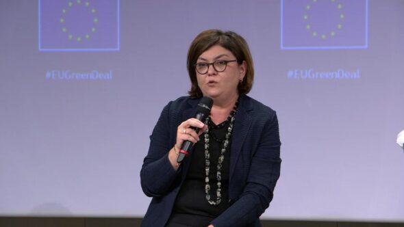 Europejska komisarz ds. transportu Adina Valean. Fot. Bartłomiej Sawicki