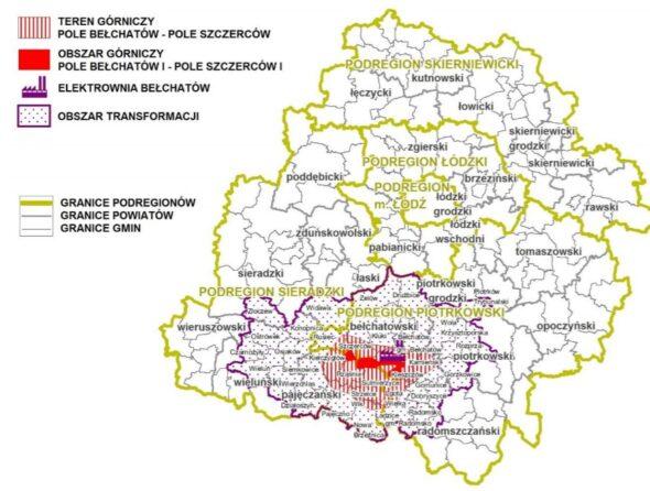 Fot. Terytorialny Plan Sprawiedliwej Transformacji Województwa Łódzkiego. Grafika:  Łódzkie.pl