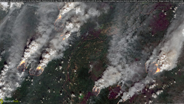 Pożary lasów w Rosji. Źródło: Flickr