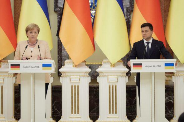 Angela Merkel i Wołodymyr Zełeński fot Kancelaria Prezydenta Ukrainy