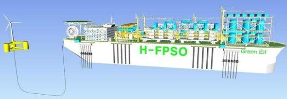 Hydrogen FPSO. Grafika: Korea Maritime and Ocean University