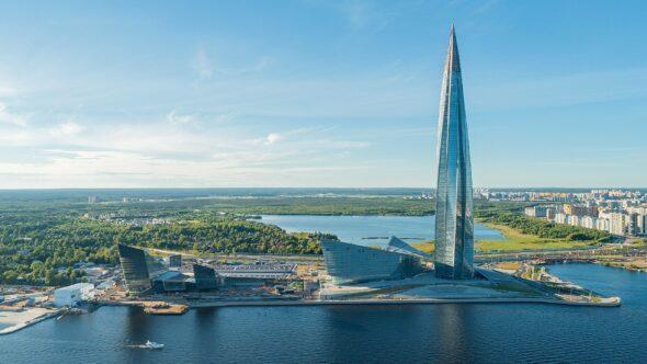 Siedziba Gazpromu Łachta Centr w Sankt Petersburgu fot.wikicommons