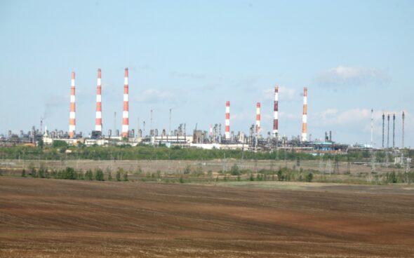 Pole kondensatu gazowego i gazu w Orenburgu Gazprom