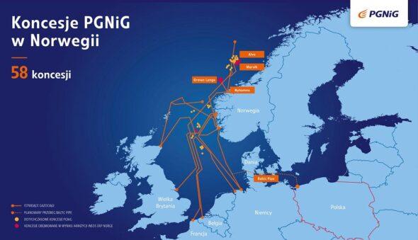 Koncesje PGNiG w Norwegii PGNiG