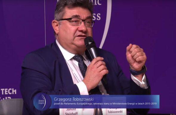 Poseł do Parlamentu Europejskiego Grzegorz Tobiszowski podczas EKG 2021. Fot. Jędrzej Stachura