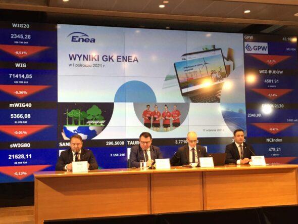 Konferencja wynikowa Grupy Enea. Fot. BiznesAlert.pl.