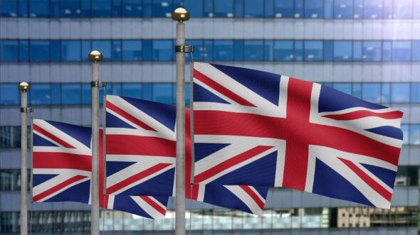Flagi Wielkiej Brytanii. Źródło: freepik
