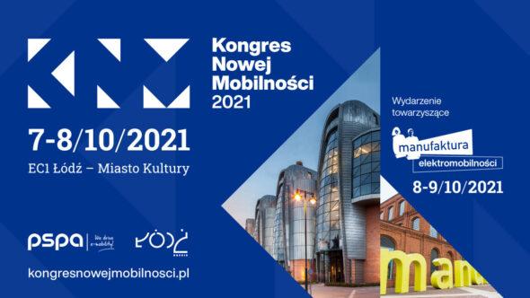 Kongres Nowej Mobilności 2021. Grafika organizatora.
