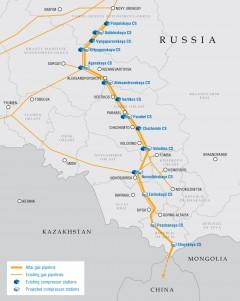 Gazociąg Ałtaj/Siła Syberii 2. Grafika: Gazprom.
