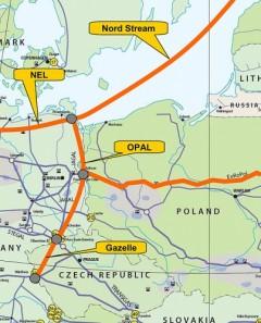 Gazociągi OPAL i NEL - odnogi Nord Stream.