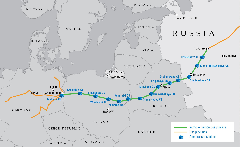 Gazociąg Jamalski. Źródło: Gazprom