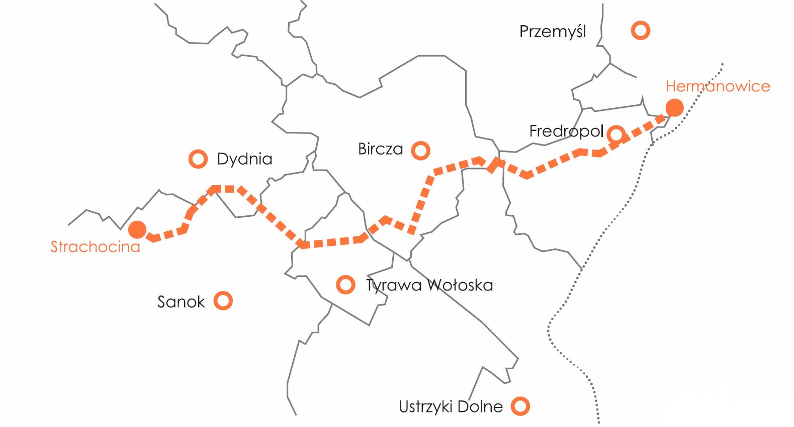 Połączenie Hermanowice-Strachocina. Grafika: Gaz-System.