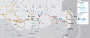 Gazociąg Siła Syberii. Grafika: Gazprom