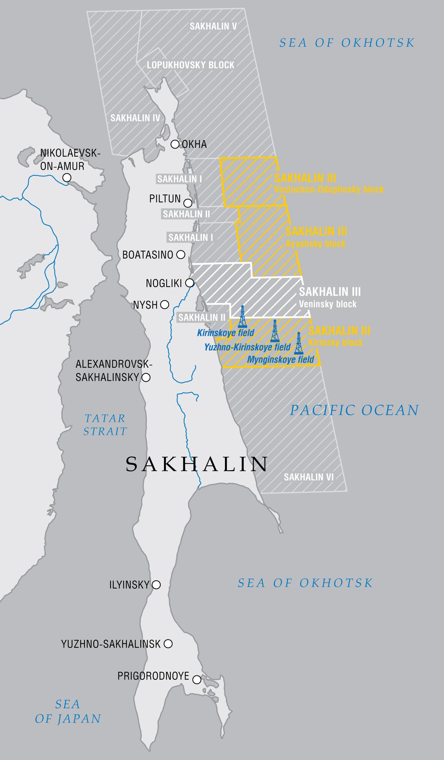 Projekty na wyspie Sachalin
