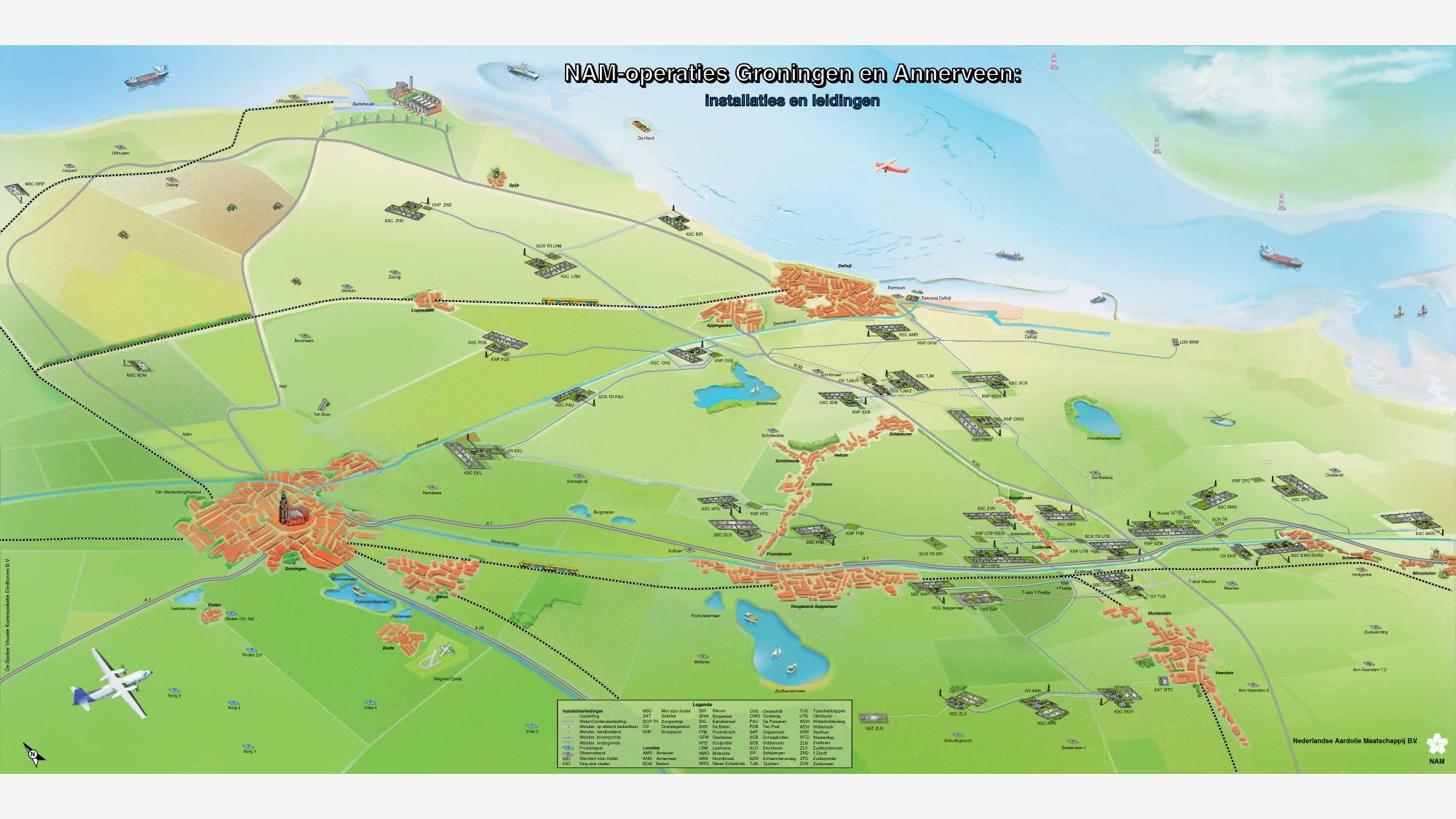 Rejon wydobycia ze złoża Groningen