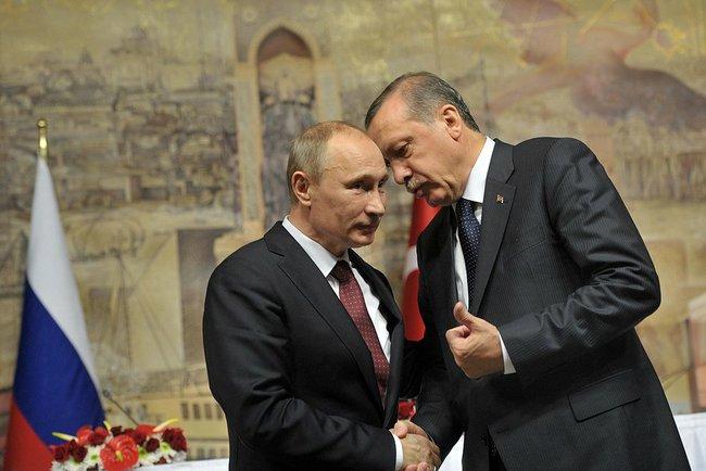 Władimir Putin i Recep Erdogan