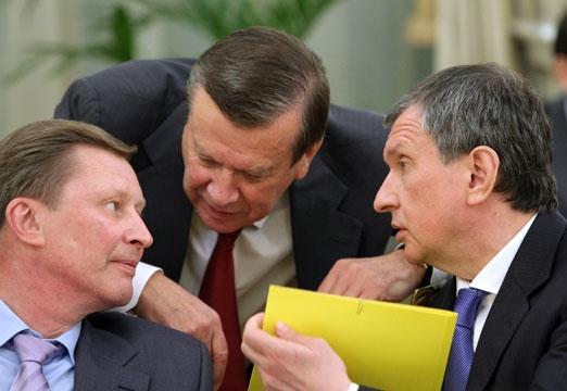 Wiktor Zubkow, Siegiej Iwanow i Igor Sieczin