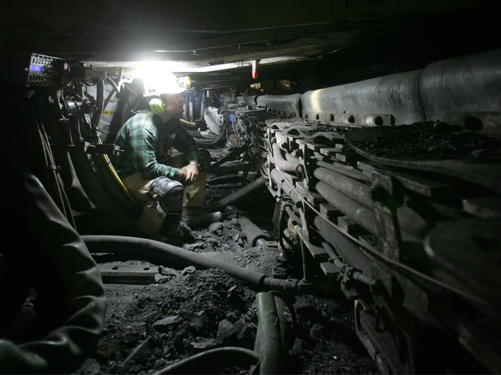ściana kopalnia
