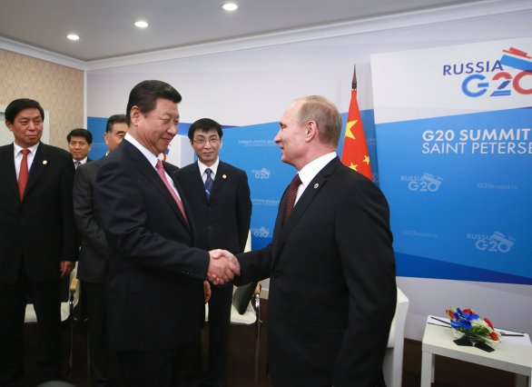 Xi Jinping i Władimir Putin