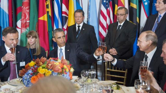 Prezydenci Duda, Obama i Putin. Źródło: ONZ