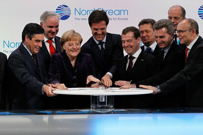 Ceremonia otwarcia połączenia gazowego Nord Stream
