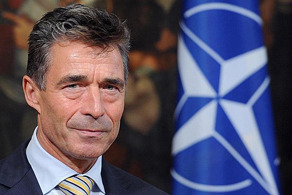 NATO Secretary General Fogh Rasmussen visits Letta